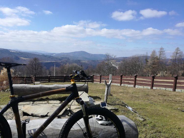 test roweru z bambusa widok rower