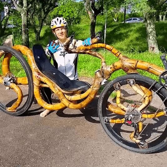 Najdziwniejsze rowery z bambusa art bike 2