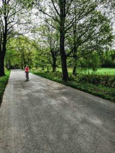 Z rowerem na Mazury jazda na rowerze z bambusa2