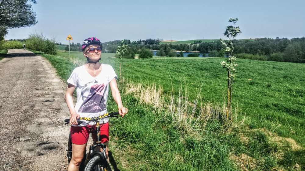 Z rowerem na Mazury szosa rower Widoki