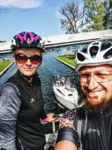 Z rowerem na Mazury nad kanałem