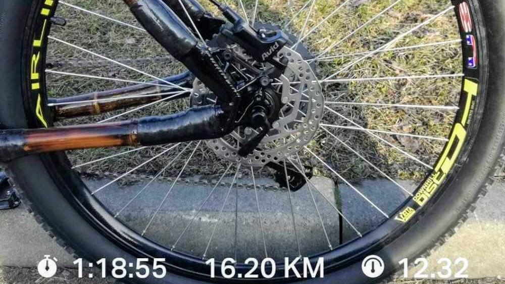 test roweru z bambusa koło
