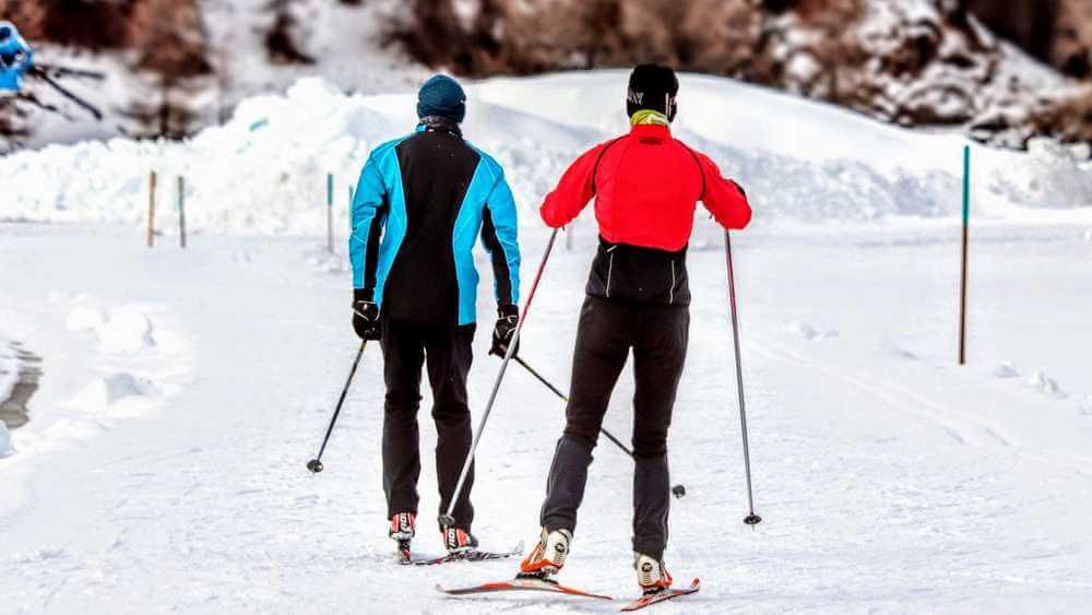 alternatywa dla roweru zimą na biegówkach
