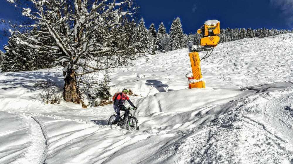 alternatywa dla roweru zimą na rowerze na stoku
