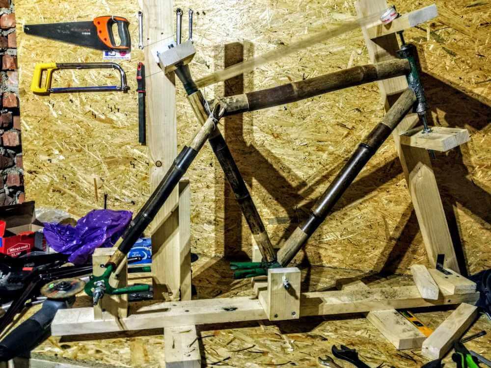montaż bambuswoych tyczek 07