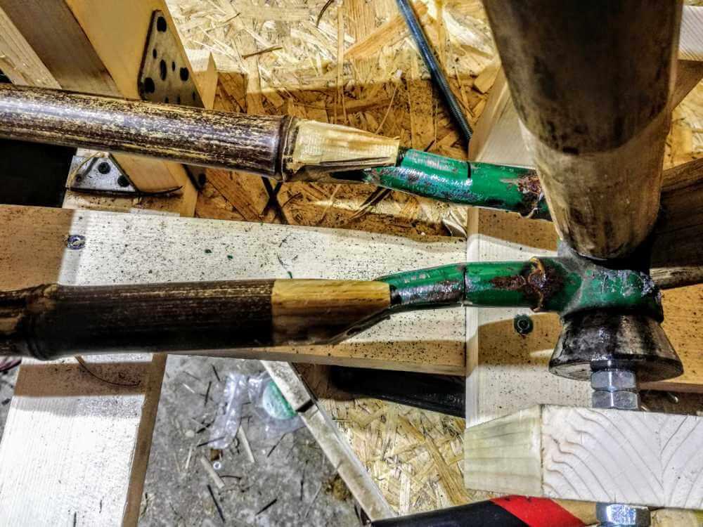 montaż bambuswoych tyczek 04