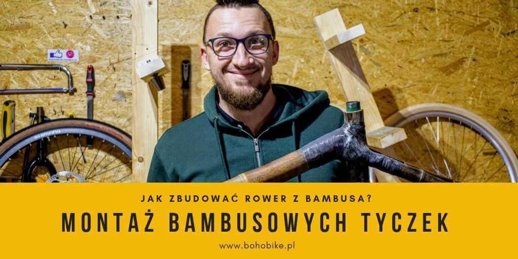 montaż bambusowych tyczek wyróżniający